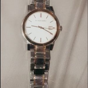 Woman's Burberry watch two tone